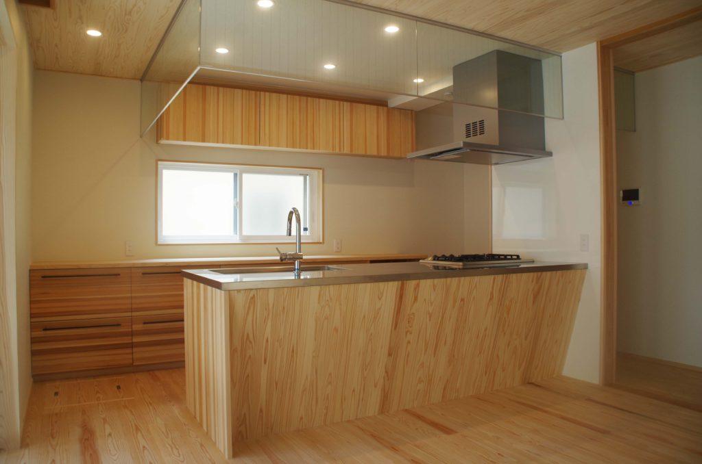 造作キッチン、収納、洗面